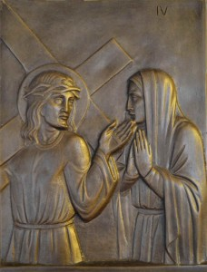 The fourth Station Jesus meets his mother A sword will pierce your own soul too! Luke 2:23