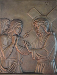 The eighth Station Jesus meets the women of Jerusalem Daughters of Jerusalem, do not weep for me, but weep for yourselves and for your children. Luke 23:28